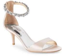 Badgley Mischka Geranium Metallic Leather Open Toe Sandals