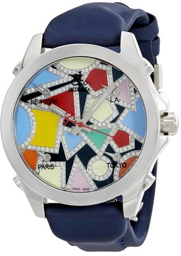 Jacob & co Jacob and Co. Five Time Zone Multi-Color Dial Diamond Men's Watch