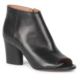 Maison Margiela Peep Toe Leather Booties