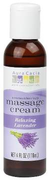 Aura Cacia Relaxing Lavender Aromatherapy Massage Cream - 4 oz