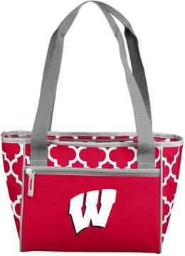 NCAA Logo Brand Wisconsin Badgers 16-Can Quatrefoil Cooler Tote