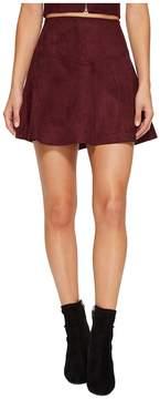 BB Dakota Hal Faux Suede Scuba Skirt Women's Skirt