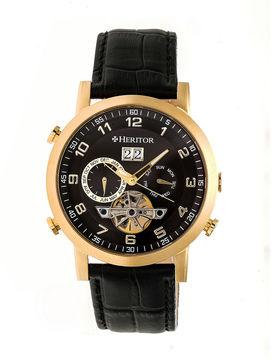 Heritor Edmond Mens Black Strap Watch-Herhr6204