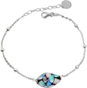 Antica Murrina Veneziana Smeralda Glass Beads Sterling Silver Bracelet