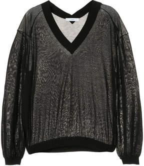 ASTRAET knitted V-neck top