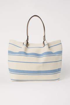 H&M Striped Shopper - Blue