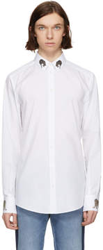 Dolce & Gabbana White Leopard Shirt