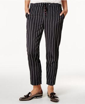 Armani Exchange Striped Drawstring Trousers