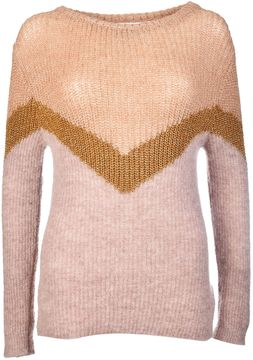 Chiara Bertani Color Block Sweater