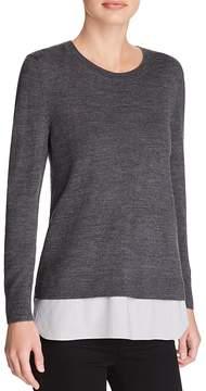 Aqua Layered-Look Crewneck Sweater - 100% Exclusive