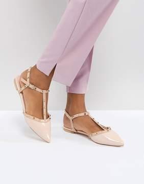 Dune London Cayote Flat Studded Shoe