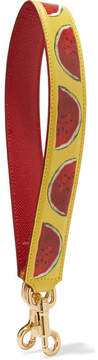 Dolce & Gabbana Printed Textured-leather Bag Strap - Yellow - YELLOW - STYLE