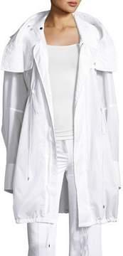 Calvin Klein Collection Kempton Hooded Drawstring Jacket, White