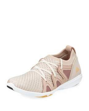 adidas by Stella McCartney CrazyMove Pro Mid-Top Fabric Trainer Sneakers, Rose