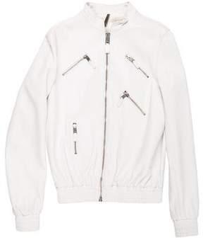 Christian Dior 2007 Leather Bomber Jacket