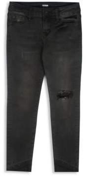 Hudson Girl's Angled Skinny Dark Jeans