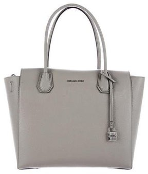 Michael Kors Grained Leather Satchel - GREY - STYLE
