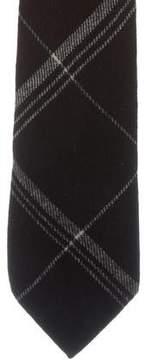 Ralph Lauren Purple Label Plaid Cashmere Tie