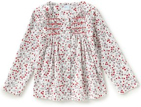 Edgehill Collection Little Girls 2T-6X Floral-Print Smocked Top