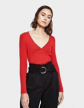 Which We Want V-neck Wrap Top in Red