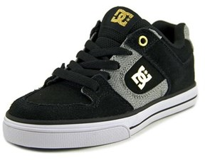 DC Pure Xe Round Toe Suede Skate Shoe.