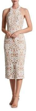 Dress the Population Sequin Lace Midi Dress