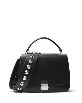 Michael Kors Mia Leather Top Handle Bag, Black - BLACK - STYLE