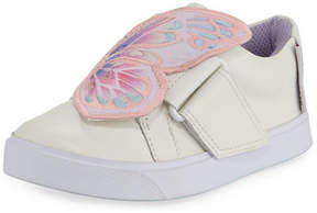Sophia Webster Bibi Embroidered-Butterfly Low-Top Sneaker