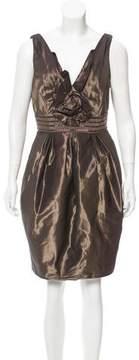 Carmen Marc Valvo Embellished Mini Dress
