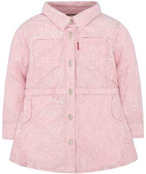 Levi's Baby Girl Pink Fit & Flare Shirt Dress