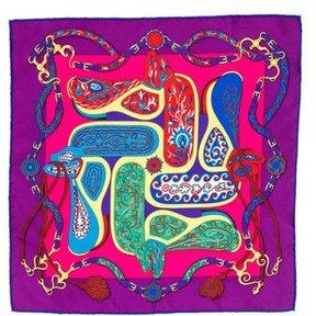 Hermes Soie Festival Silk Pocket Square w/ Tags