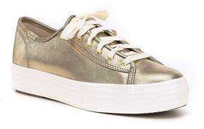 Keds Triple Kick Metallic Suede Sneakers