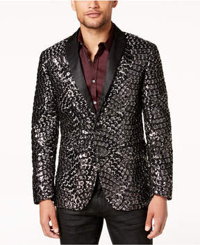 INC International Concepts I.n.c. Men's Slim-Fit Patterned Sequined Blazer, Created for Macy's