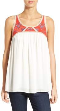 Willow & Clay Embroidered Sleeveless Tunic