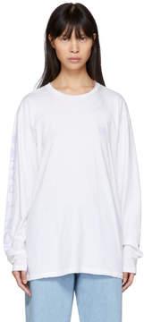 Baja East White Dont Panic T-Shirt