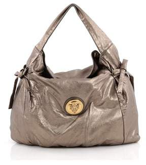 Gucci Pre-owned: Hysteria Fold Over Hobo Leather Medium. - SILVER - STYLE