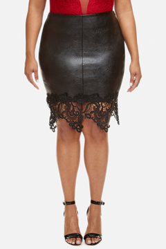 Fashion to Figure Brielle Faux Leather Pencil Skirt