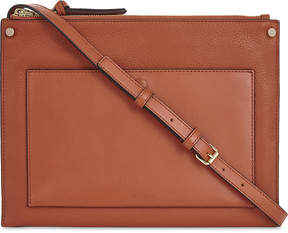 Sandro Bianca leather shoulder bag