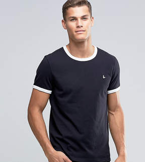 Jack Wills Ringer T-Shirt In Regular Fit In Black Exclusive