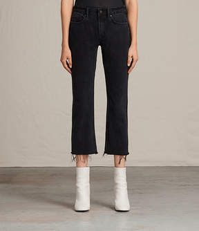 AllSaints Serene Cropped Kick Flare Jeans