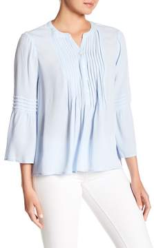Cynthia Steffe CeCe by 3/4 Ruffled Sleeve Pintuck Blouse