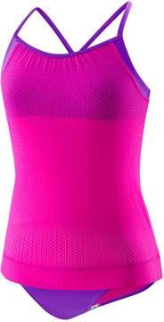 Speedo Girls 7-16 Blouson Tankini Top & Bottoms Swimsuit Set
