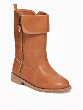 Old Navy Fold-Over Faux-Leather Boots for Toddler Girls