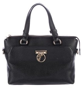 Versace Grained Leather Satchel