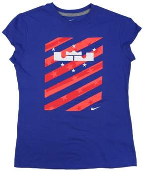 Nike Big Girls' (7-16) LeBron 4th Of July T-Shirt-Varsity Royal-Large