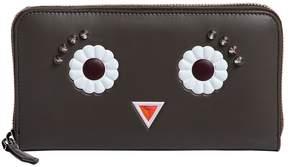 Fendi Faces Zip Around Leather Wallet