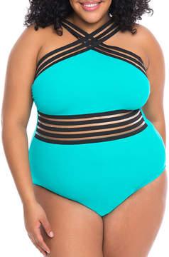 Boutique + + One Piece Swimsuit Plus