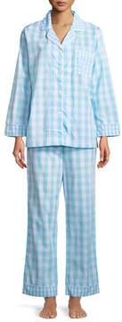 BedHead Gingham Long-Sleeve Classic Pajama Set