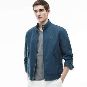 Lacoste Men's Cotton Twill Zippered Harrington Jacket