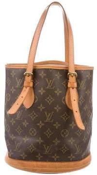 Louis Vuitton Monogram Petit Bucket w/ Pouch